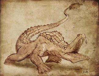 Dire crocodile by StefanoMarinetti