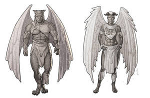 Commission: [WHA] Gargoyles by StefanoMarinetti