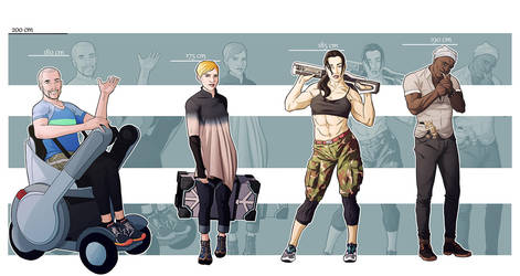 Commission: Characters Line-up by StefanoMarinetti