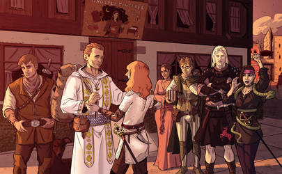 Commission: RPG Party - before by StefanoMarinetti