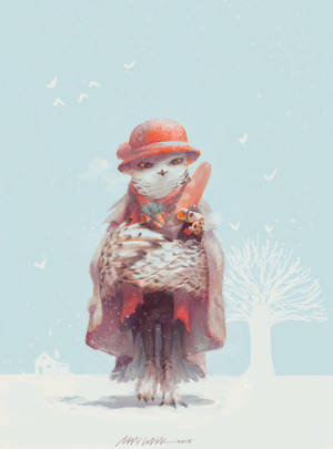 Warm and Merry Christmas - Madam Snowy Owl by moontown0125
