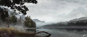 Misty Lake by LordDoomhammer