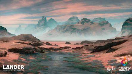 LANDER: Landscape Concept Art 09 by LordDoomhammer
