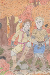Jaime and Brienne by Thorinstrawberry