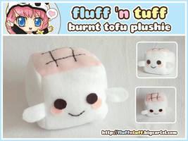 Burnt Tofu Plushie by Fluffntuff