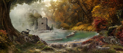 Autumn ruins by Tyami