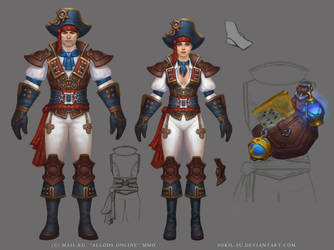 Allods: Pirate Costume by Sokil-Su