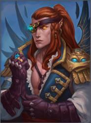 Elf Pirate Captain by Sokil-Su