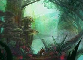 Genius Loci: Great forest caravan by Ranarh