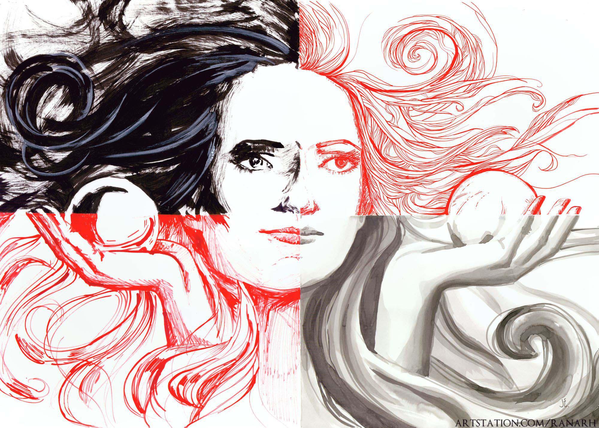 Month of Fear/Inktober 2018: Beauty by Ranarh