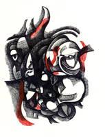 Broken Face Drawing-1 by jeremiahkauffman
