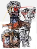 Yellow Red Sketch-1 by jeremiahkauffman