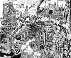 City 1  STRANGE AND BEAUTIFUL WORLDS SERIES by jeremiahkauffman