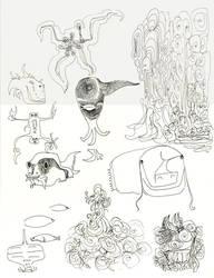 Aqua Sketch-1 by jeremiahkauffman