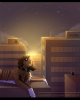 [AT] I will still be here, stargazing... by Claudsyi