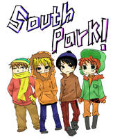 south park gang -coloredver.- by darkscarygothicotaku
