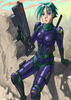 Heavy Weapons Character - Jill by Phill-Art