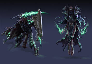Protoss DT Hero and Dark High Templar by Phill-Art