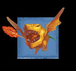 Scotch Bonnet Chili Dragon by Phill-Art