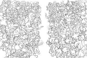 Nintendo vs. Sega by Phill-Art