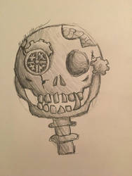 Some spoopy traditional art  by StitchUpPatch