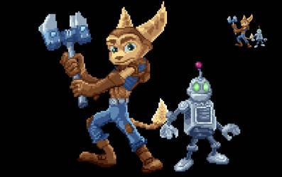 Pixel Art: Ratchet Clank by phanxgames