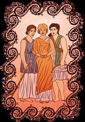 three goddesses by thebookhobbit