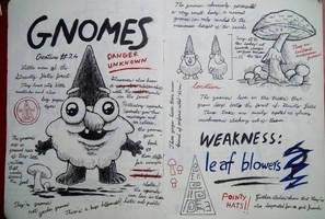 Gravity Falls Journal 3 Replica - Gnomes page by leoflynn