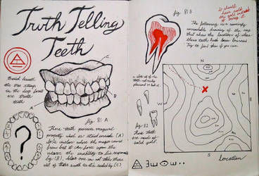Gravity Falls Journal 3 Replica - Truth Teeth by leoflynn