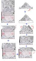 Gravity Falls Journal 3 Replica - Folding Hat Map by leoflynn