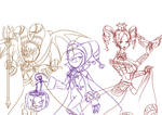 NiGHTS Halloween: Trick or treat (Sketch) by Elinital