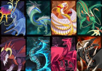 Dragon Cave: Collector Cards (Volume 1) by birdzgoboom
