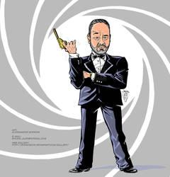 Caricature 007's look - Alex Borroni by Rockomics