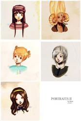 Portraits II by froggy-chan