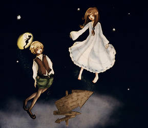 Peter and Wendy by froggy-chan