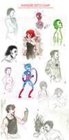 Avengers Sketch Dump! by Alexiel-VIII