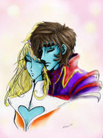 Shep and Stella colored by akapencilninjas