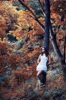 Girl and the forest by Filip-Ok