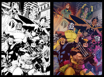X-Men color comparison by scroll142