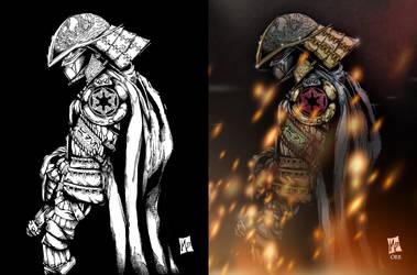 Samurai Vader by scroll142