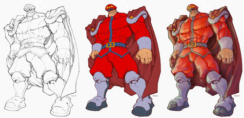 M.Bison Process by scroll142