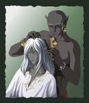 Drow's hairstyle by SiberianCat