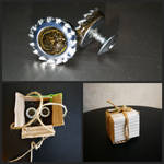 Steampunk cufflinks by BeaverXXX