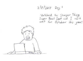 Daily Drawing: Day One by TheUniverseTraveler
