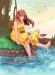 Peaceful moment by carolriverart