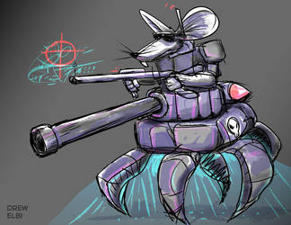 Mouse Tank by DREWELBI