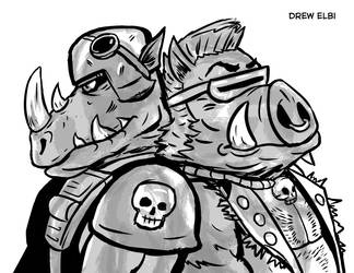 Bebop and Rocksteady by DREWELBI