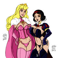 Hellfire Club Aurora And Snow White By Callmepo by Kenkira