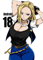 Android 18 By Unknown 2 by Kenkira