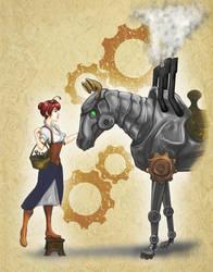 Steampunk Horse by eddythedreamer
